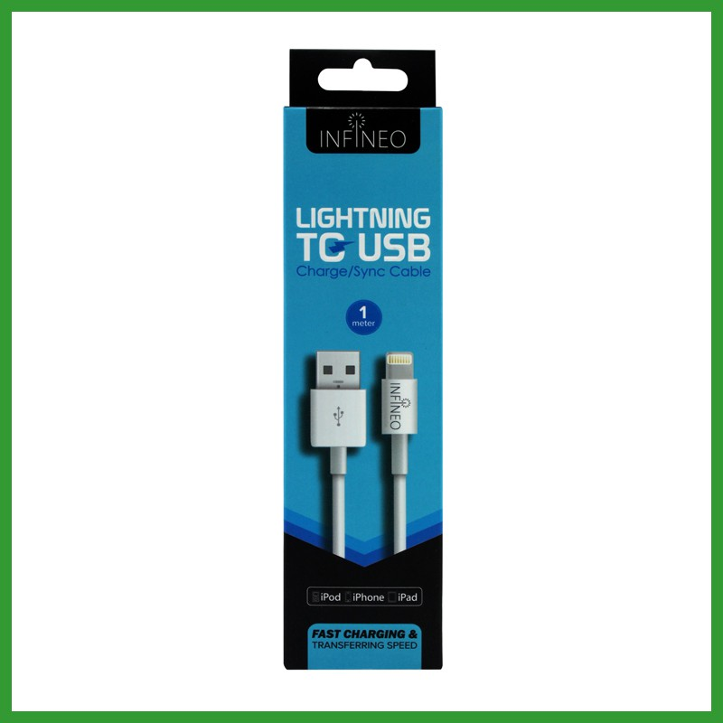 INFINEO 1 Meter 8Pin Lightning to USB Cable Support Latest iOS latest Version