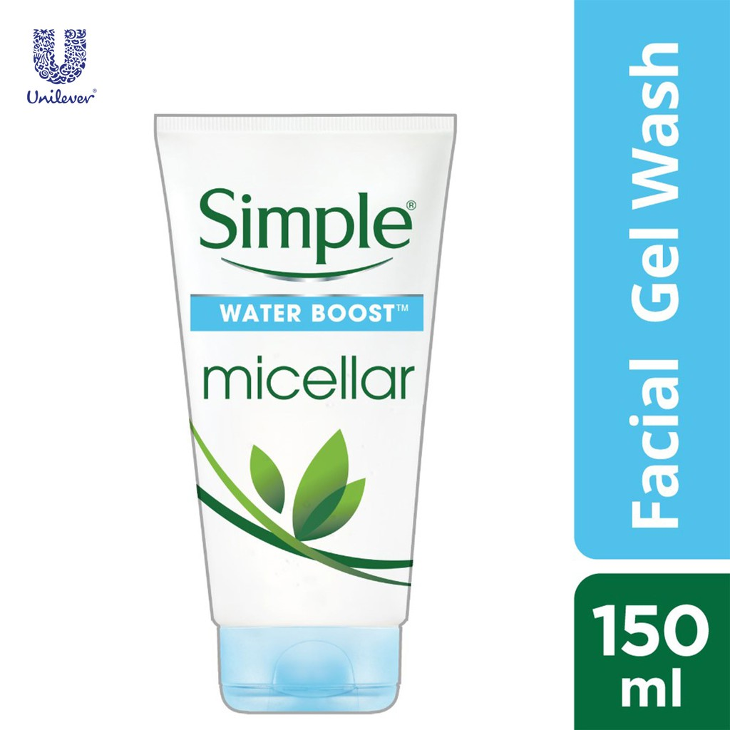 Simple Water Boost Micellar Facial Gel Wash 150ml