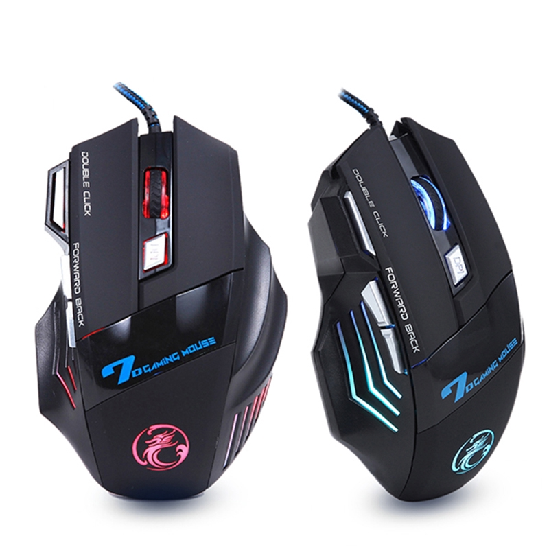 Wired 5500 DPI Mouse LED Blacklight Optical USB 6D Gaming Mice For PC Laptop New