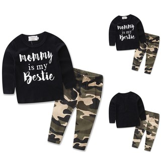 283a6bb9e 🔥JOY🔥2pcs Toddler Kids Baby Boy Long Sleeve Tops+Pants Trousers Outfits  Clothing Set