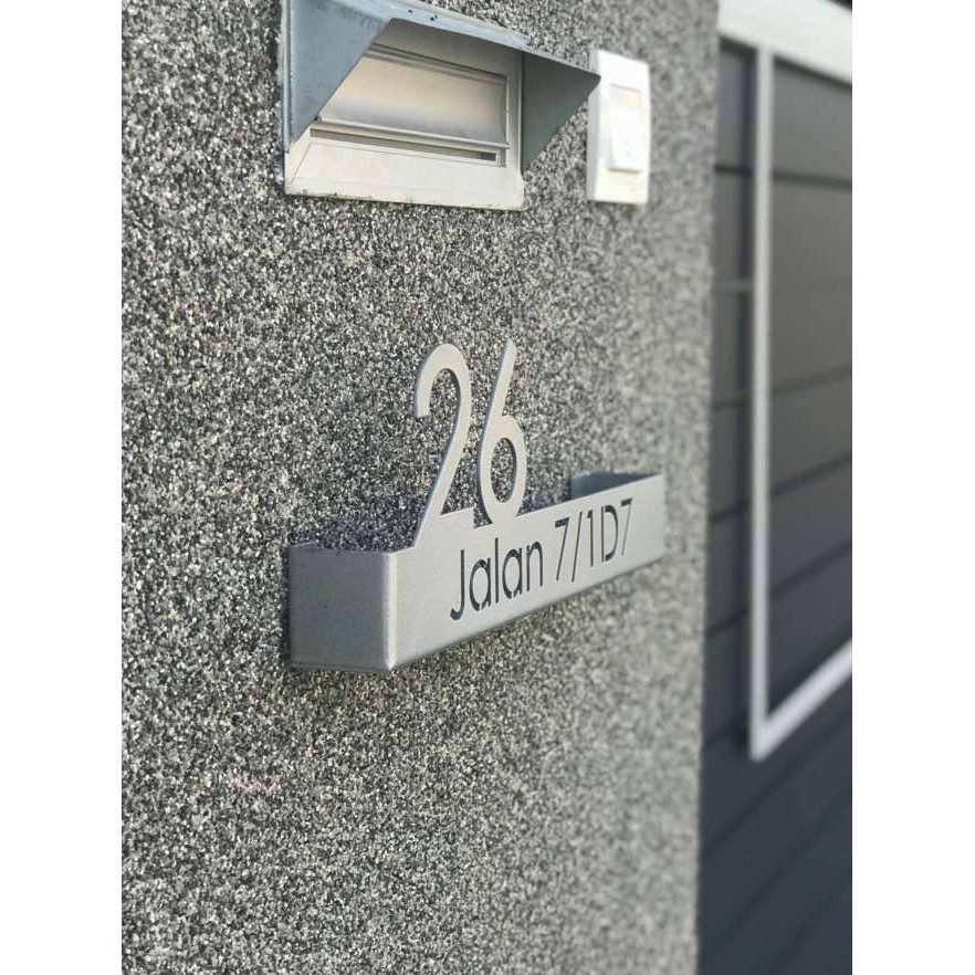 Stainless Steel LED Modern 3D Fold Casing House Number & Address Sign