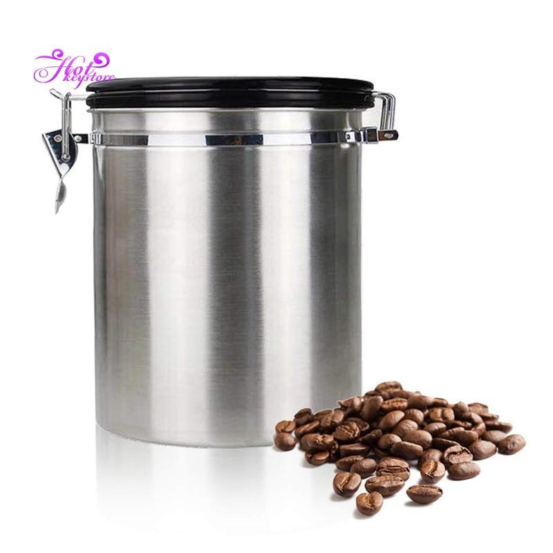 Coffee Flour Sugar Stainless Steel Container Kitchen Storage