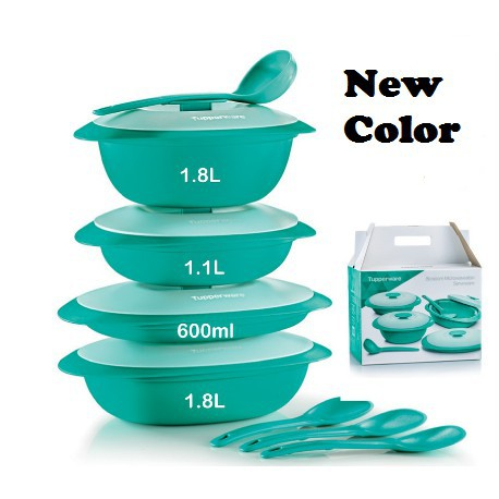 [READY STOCK] Tupperware Blossom Microwaveable Serveware Serving Set (8) with Gift Box