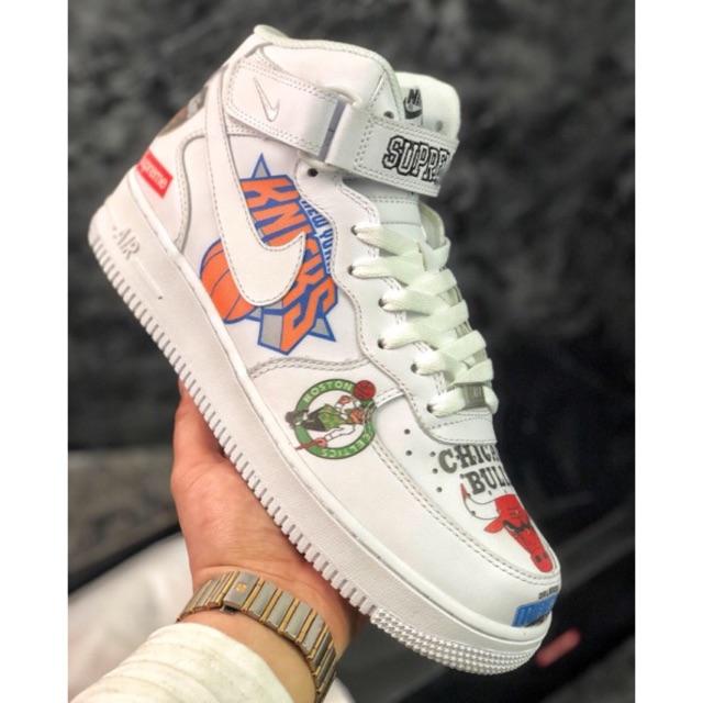 Nike Air Force 1 MID'07 Graffiti Bull Low Supreme x NBA x Sneakers