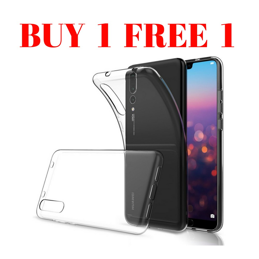 Huawei p20 pro clear silicone casing Buy 1 Free 2 tpu rubber case