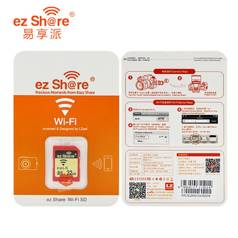 Original Ez Share Wifi Sd Card 4gb Memory card SDHC C10 for Canon Nikon  Camera