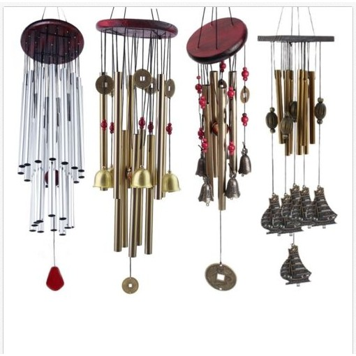 Amazing Resonant Relaxing 4 Tubes Chapel Melody Bells Wind Chimes Yard Decor
