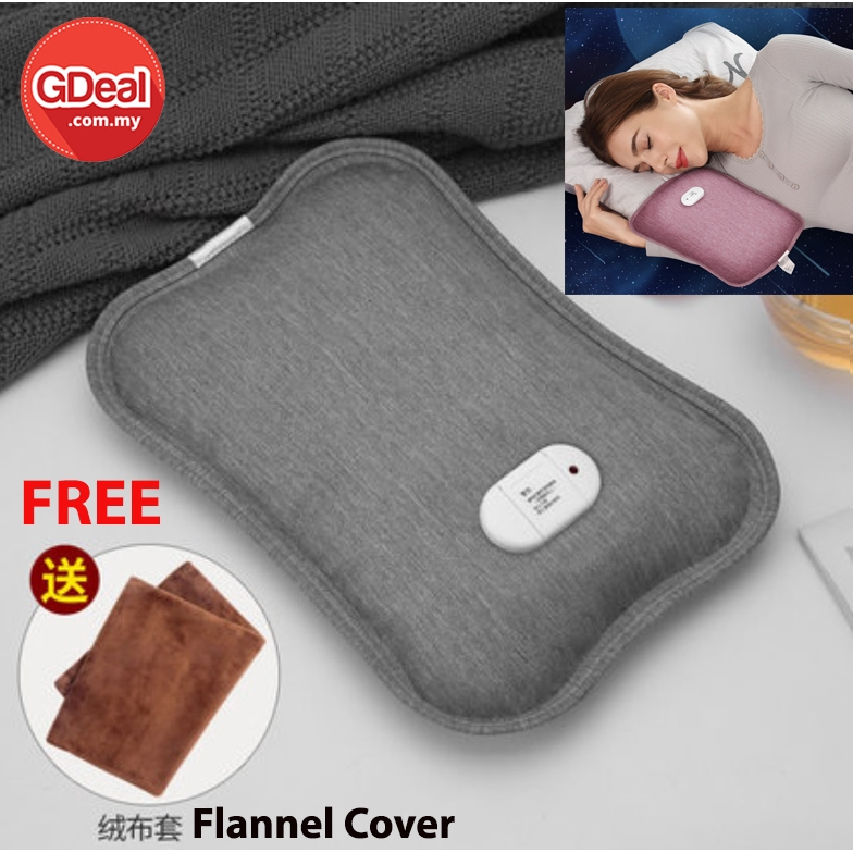 GDeal Large Capacity Portable Winter Rechargeable Hot Water Bag Warm Palace Feet Waist With Cover