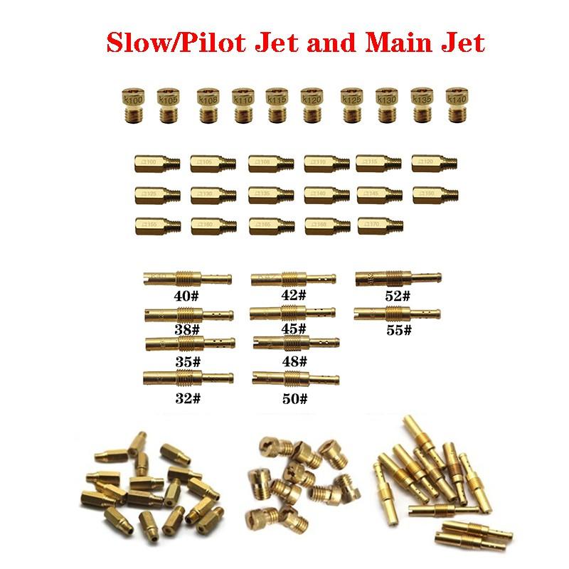 10pcs Set Slow/Pilot Jet or Main Jet For PWK Keihin OKO CVK Mikuni KOSO