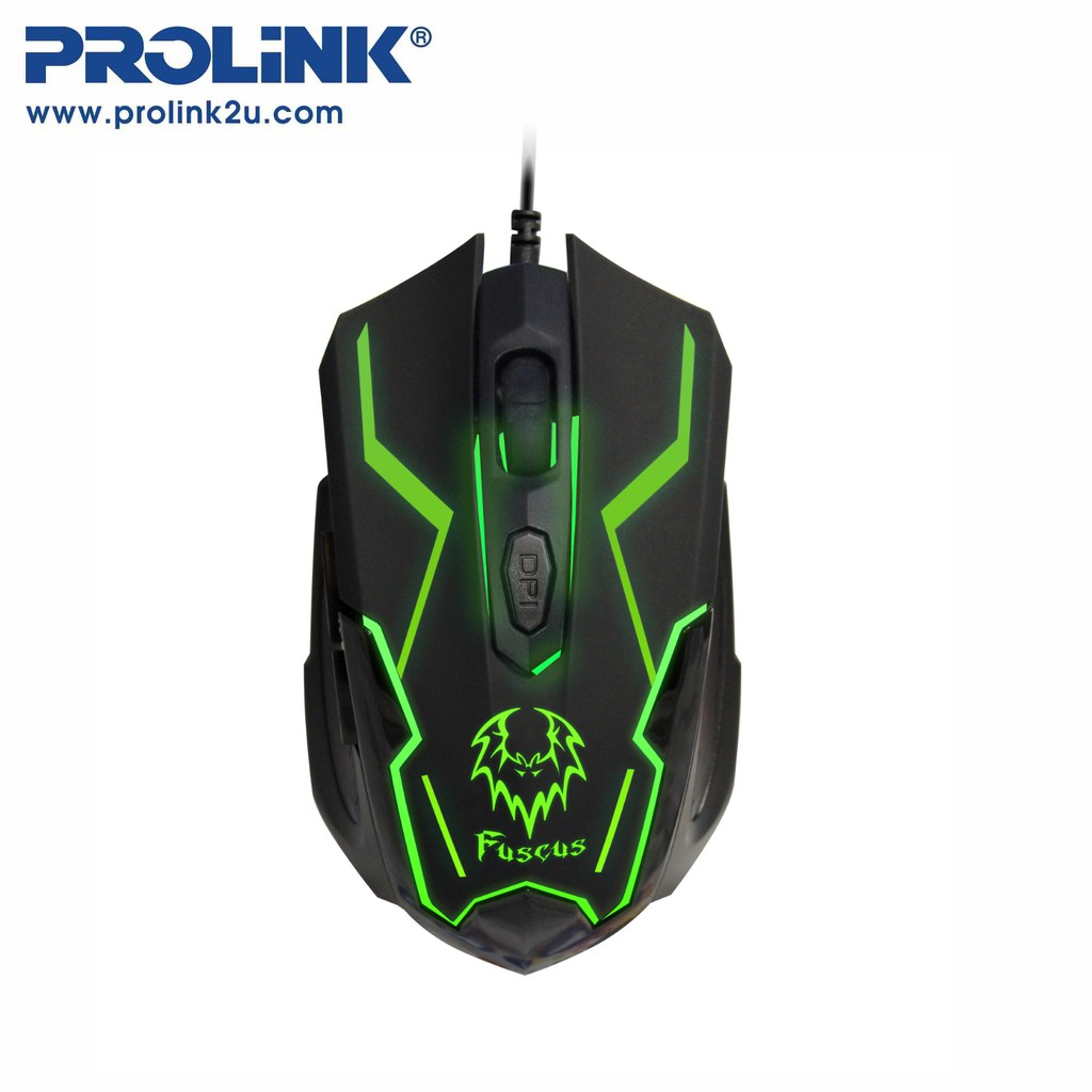 PROLiNK 7-Colour Illuminated Gaming Mouse 6-Buttons PMG9005