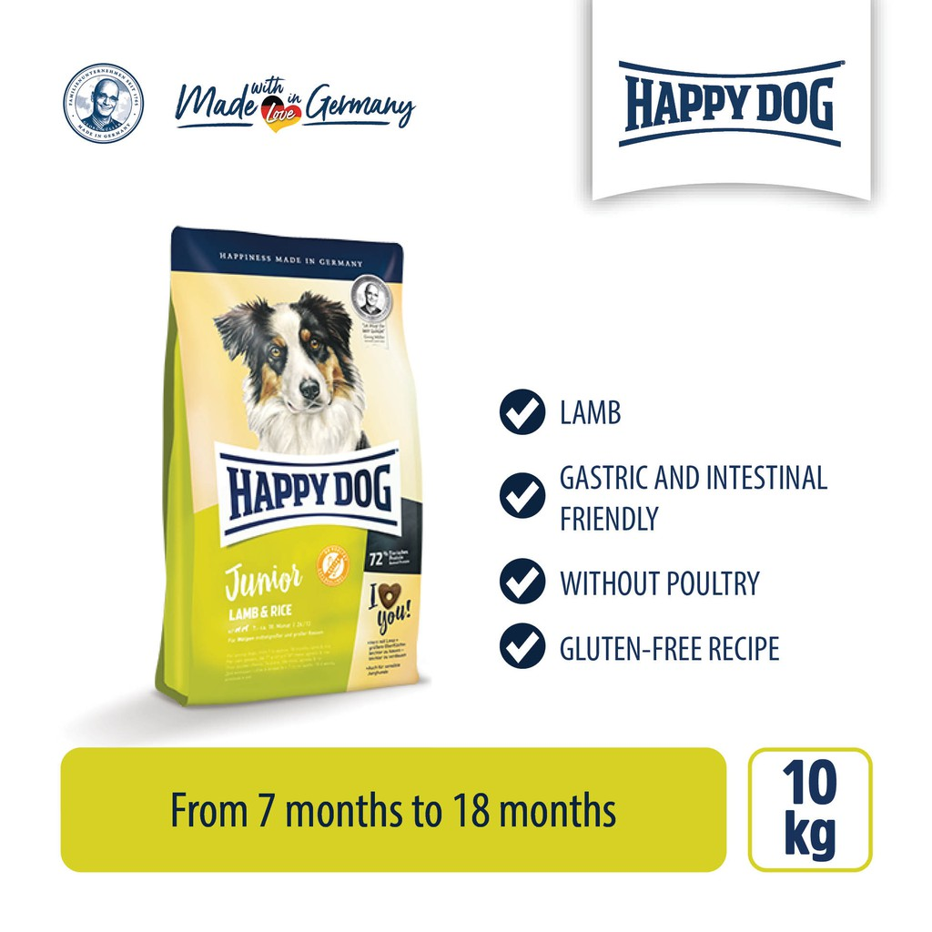 Happy Dog Junior Lamb & Rice (10kg)