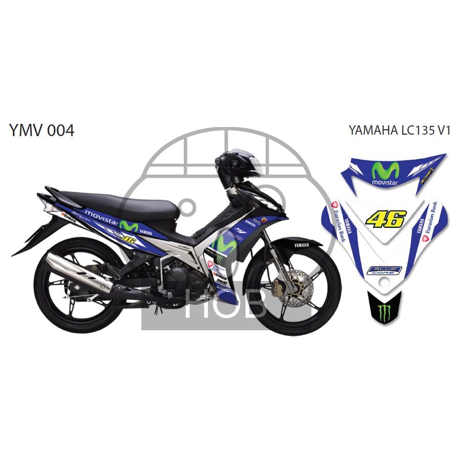 Yamaha LC135 V1 Movistar Sticker