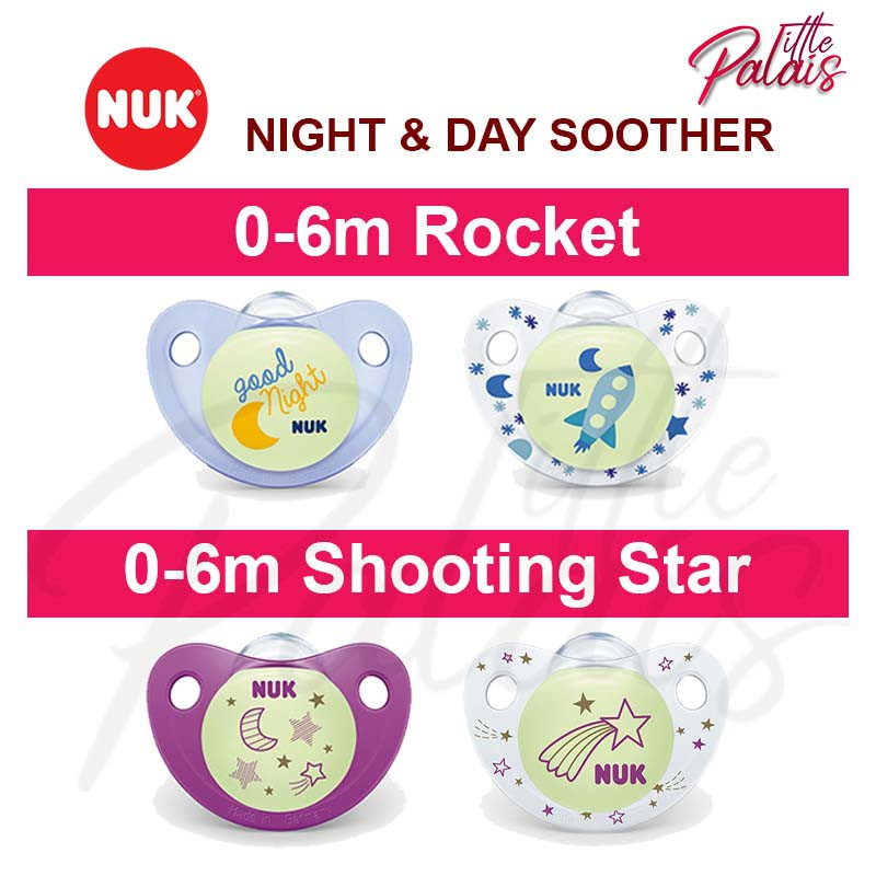 2 NUK Natural Orthodontic Pacifiers Latex 6-18 Months Variable Colors