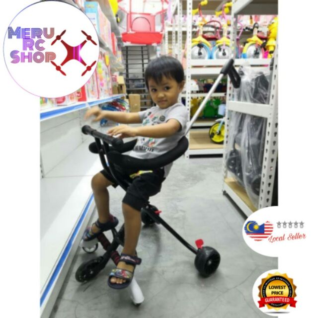Foldable and High Quality 5 Wheels Magic Stroller with Adjustable Handle