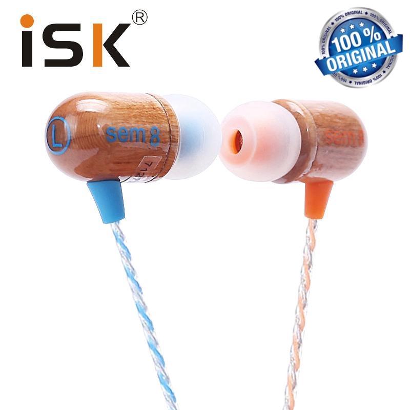 Original ISK SEM8 Professional Monitor HI-FI Cherry Wood In-Ear Earphone