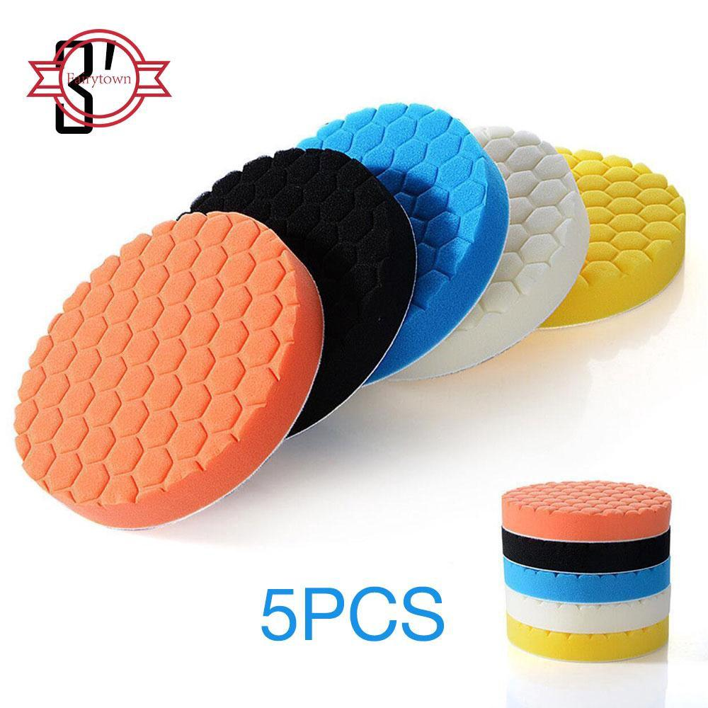 Auto Parts and Vehicles 3/4/5/6/7inch Buffing Sponge Polishing Pad Kit Waxing Set 5Pcs Car Auto Polisher