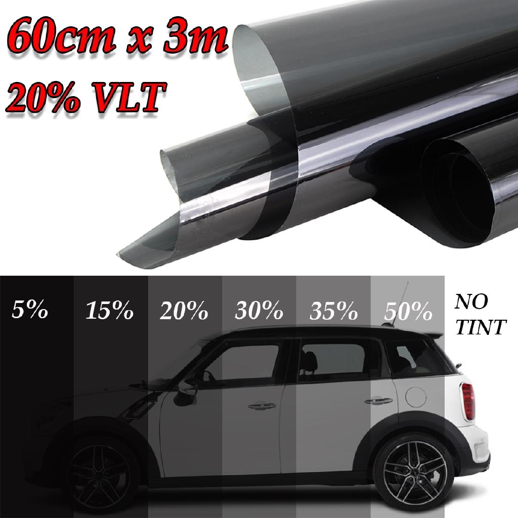 "Uncut Roll Window Tint Film 20/% VLT 30/"" In x 100/' Ft Feet Car Home Office Glass"