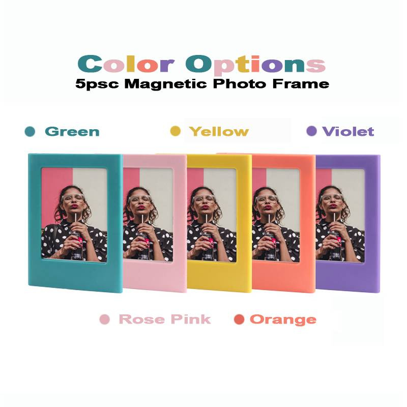 5pcs Colorful Magnetic Photo Frame For 2X3 Picture Lomo/Instax Mini Film Creative Photo Frame