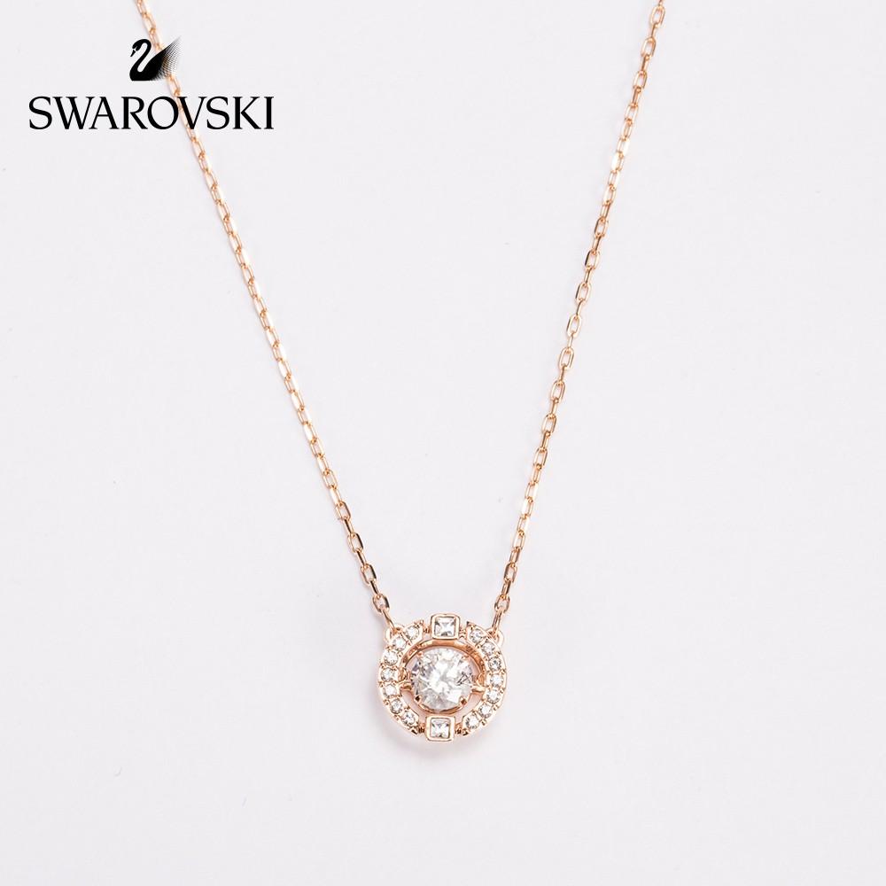 ded35cb5c6323 Swarovski SPARKLING DC Classic Crystal Color Necklace Women's Jewelry  Barang kemas klasik kalung kristal wanita