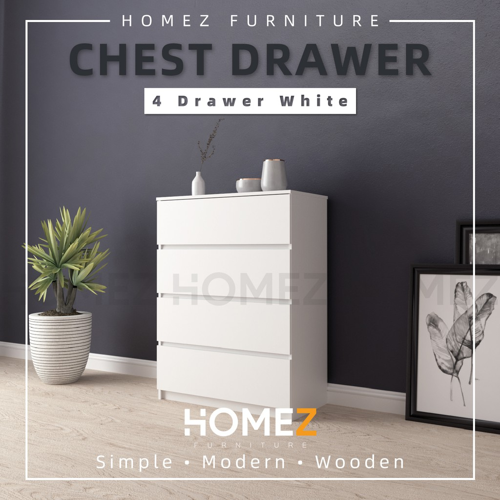 Homez Chest Drawer with 4 Layer Drawer Storage - 3 ft - HMZ-FN-CD-7001