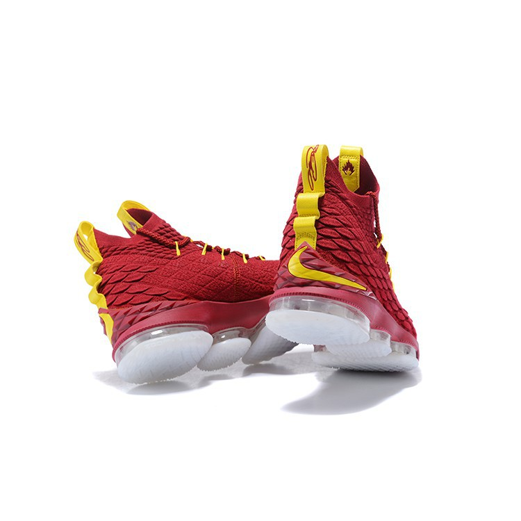 the latest ff44a 08678 Original Nike Lebron James 15 Men's Profession Baskteball Shoes Red Sneakers
