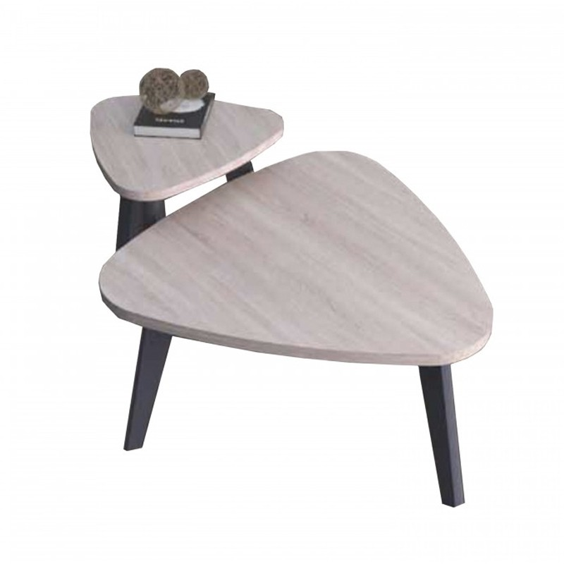 Furniture Direct HELSINKI SCANDINAVIAN NEST OF TABLE-OAK