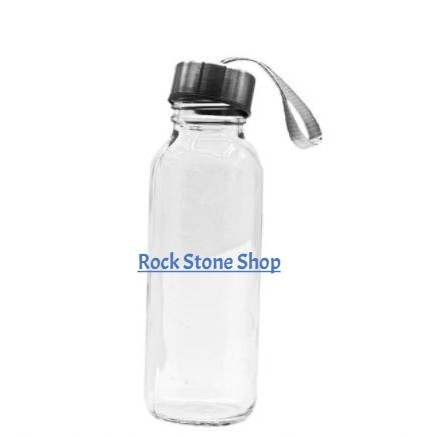 300ml Portable Travel Glass Bottle Transparent Glass Water Bottle Drinking Bottle | Botol Air Kaca | 方便携带玻璃水壶