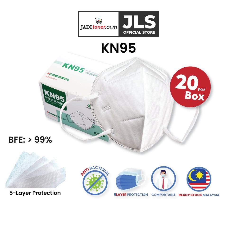 KN95 (20 Pcs) 5 layer Disposable Face Mask Ready Stock Malaysia - Jadi