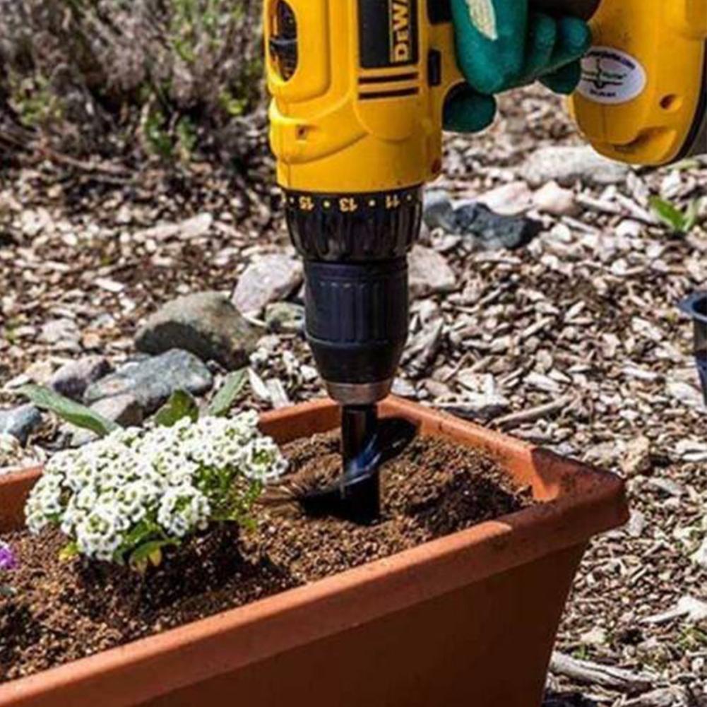 46*370mm Digging Drill Bit Electric Cordless Garden Planting DIY Auger Spiral