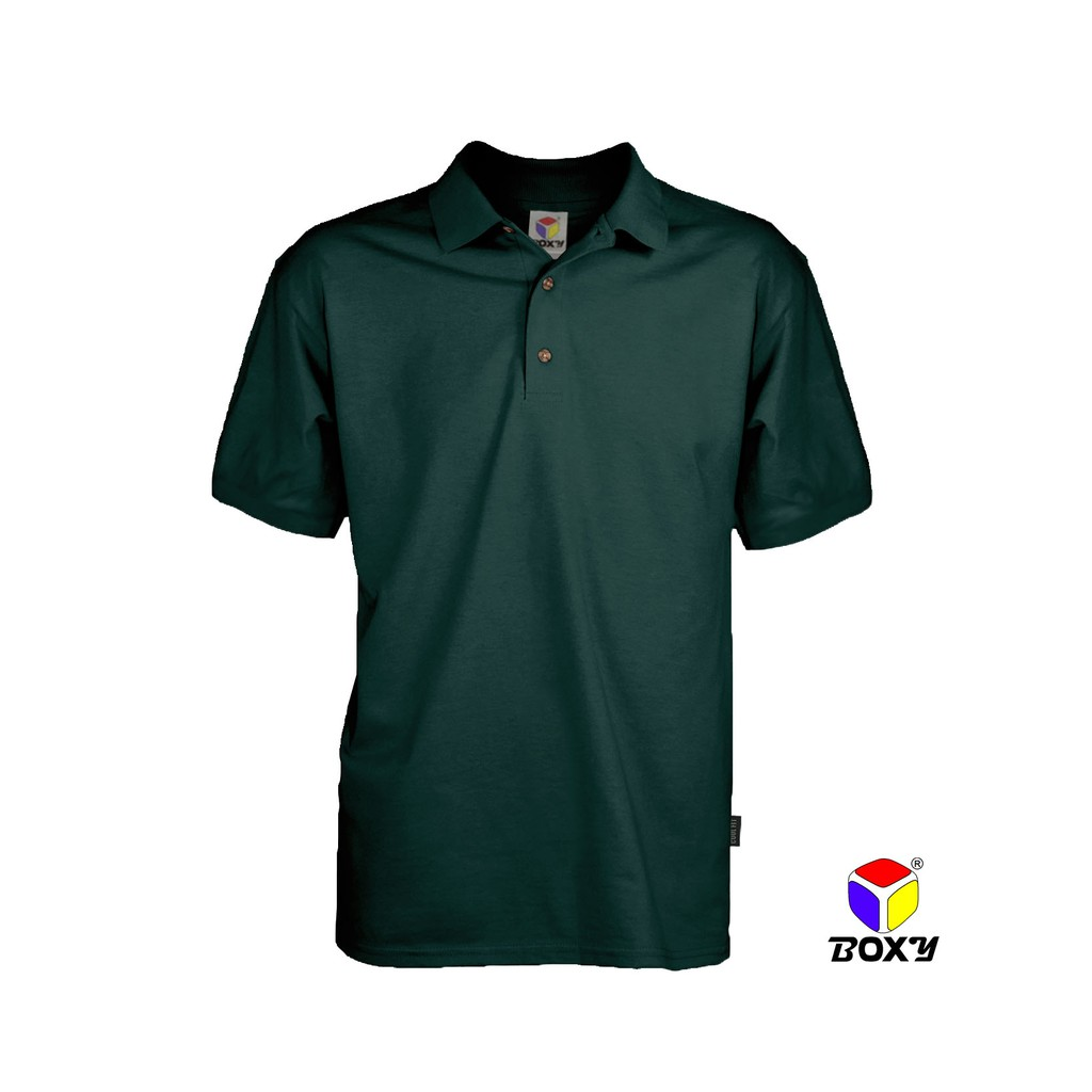 Boxy microfiber polo shirt forest green shopee malaysia for Forest green polo shirts