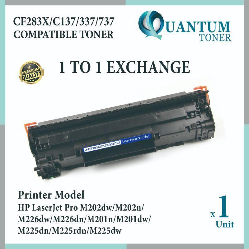 2x CF283X 83X Black Toner Cartridge Compatible For HP LaserJet Pro M201dw M225dn