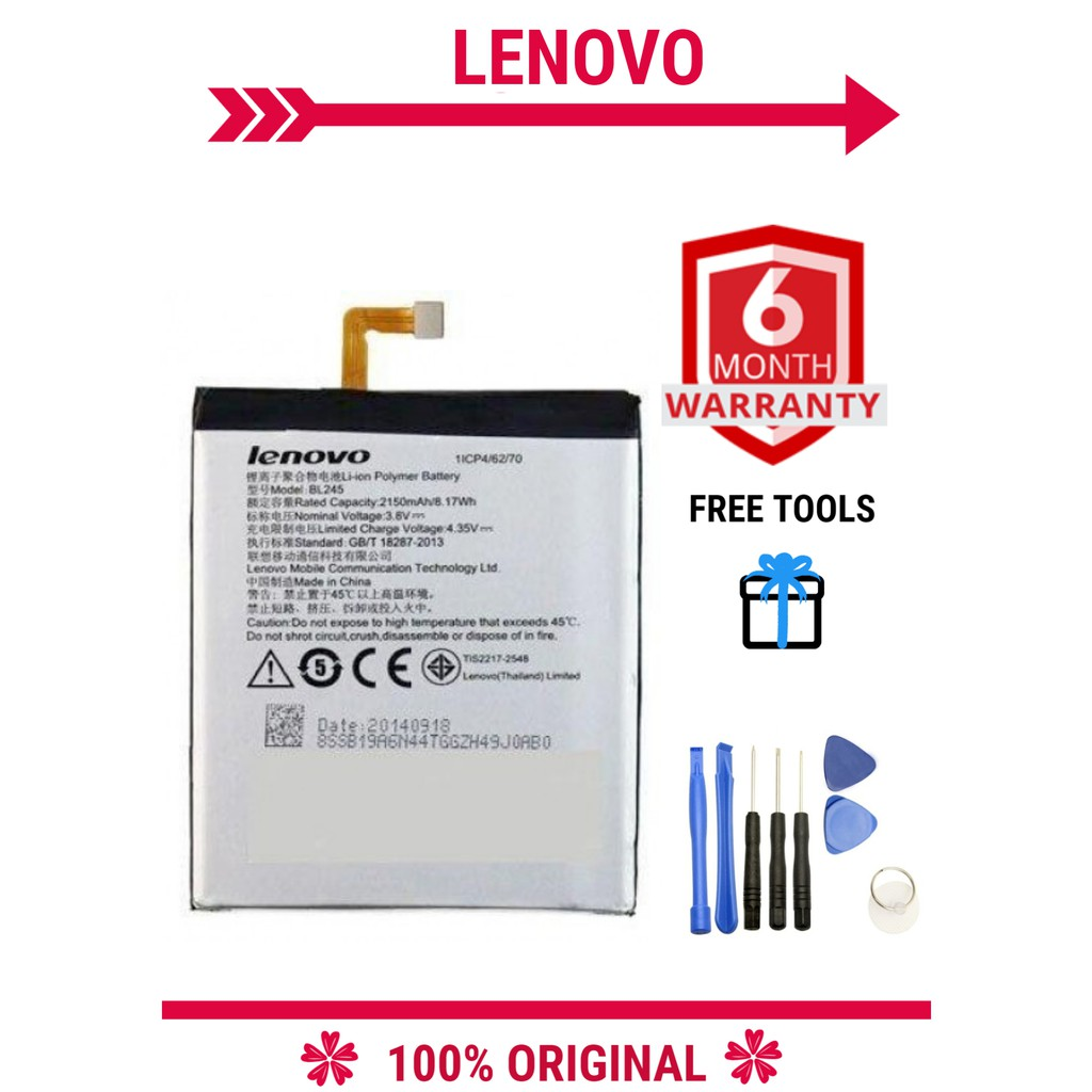 ORIGINAL LENOVO S60 BL245 2150MAH Battery