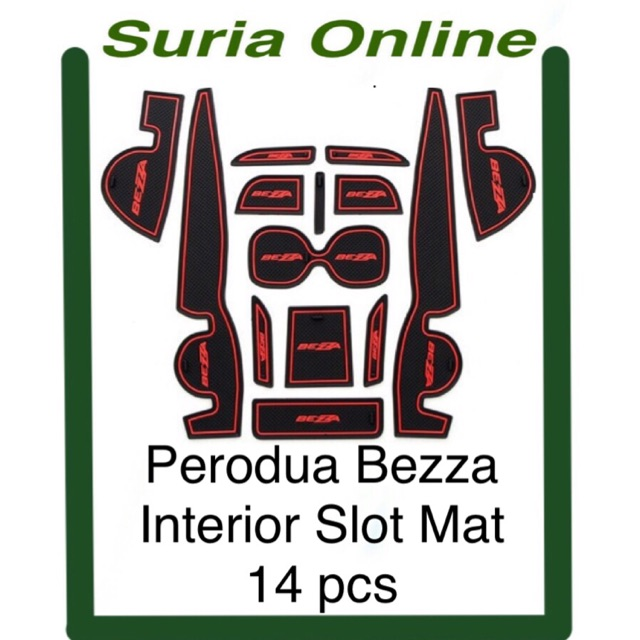 Perodua Bezza - Interior Slot Mat ( 14pcs )