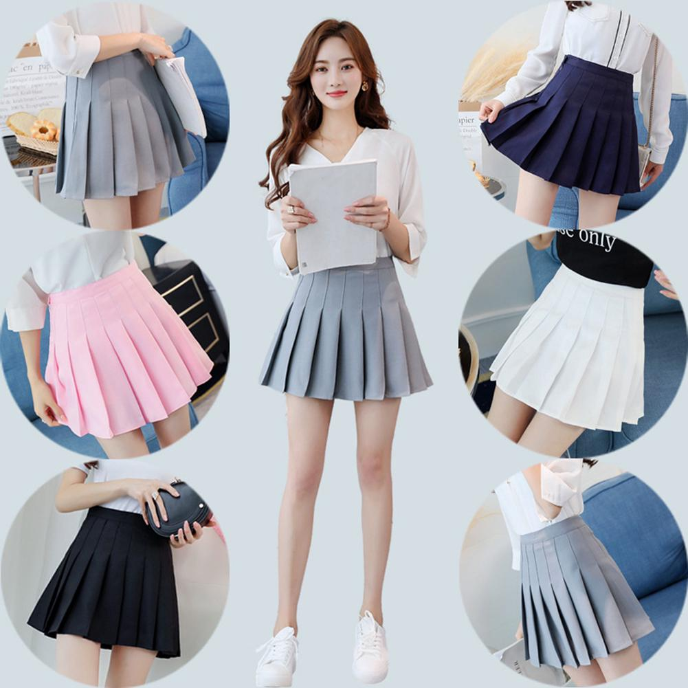 f12ba11f4b Women's short mini skirt pleated tennis skirt with anti-exposure shorts