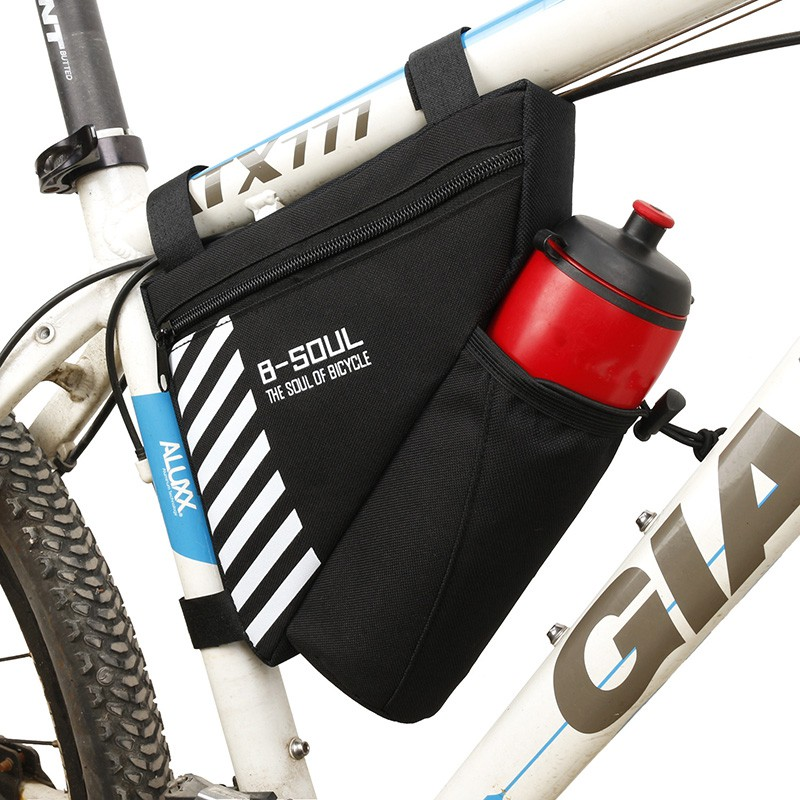 B Soul Waterproof Bike Triangle Bag For Bicycle Front Frame Bag Cycling Top Tube Bag Water Bottle Pocket Bicycle Bag Shopee Malaysia