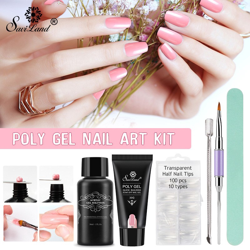 232572519030 Polygel Poly Gel Fast Nails Extention Tips Milky White 30g Sho Malaysia