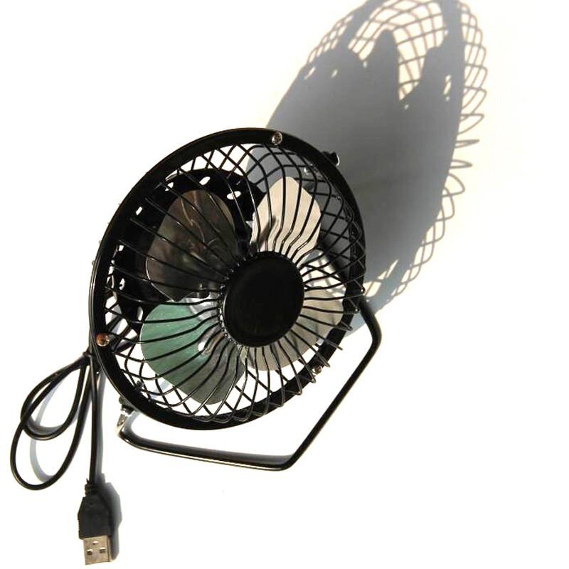 High Quality 4 Inch Cooling Ventilation Fan USB Solar Powered Panel Iron Fan EL