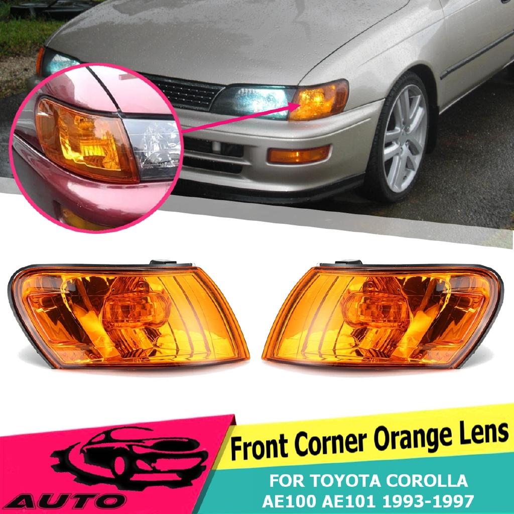 Front Corner Light Orange Lens ABS For Toyota Corolla AE100 AE101 E100  1993-1997