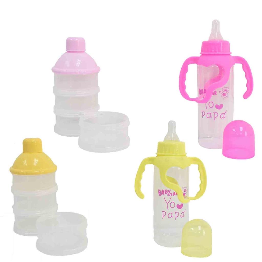 Apple Bear Baby Milk Bottle Set (3pc) - Random Colour
