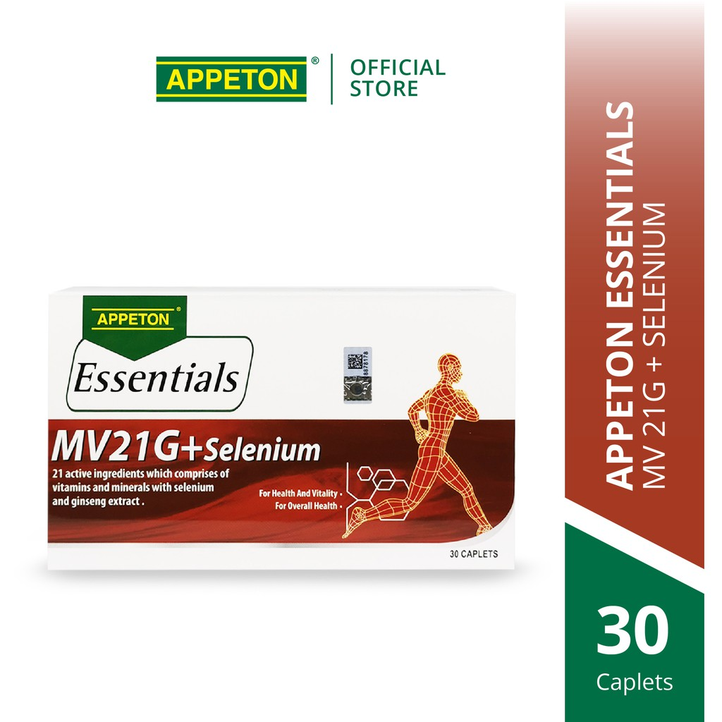 APPETON Essential MV21 + Selenium for Essentials Daily Nutrients with Panax Ginseng G116 (30's)