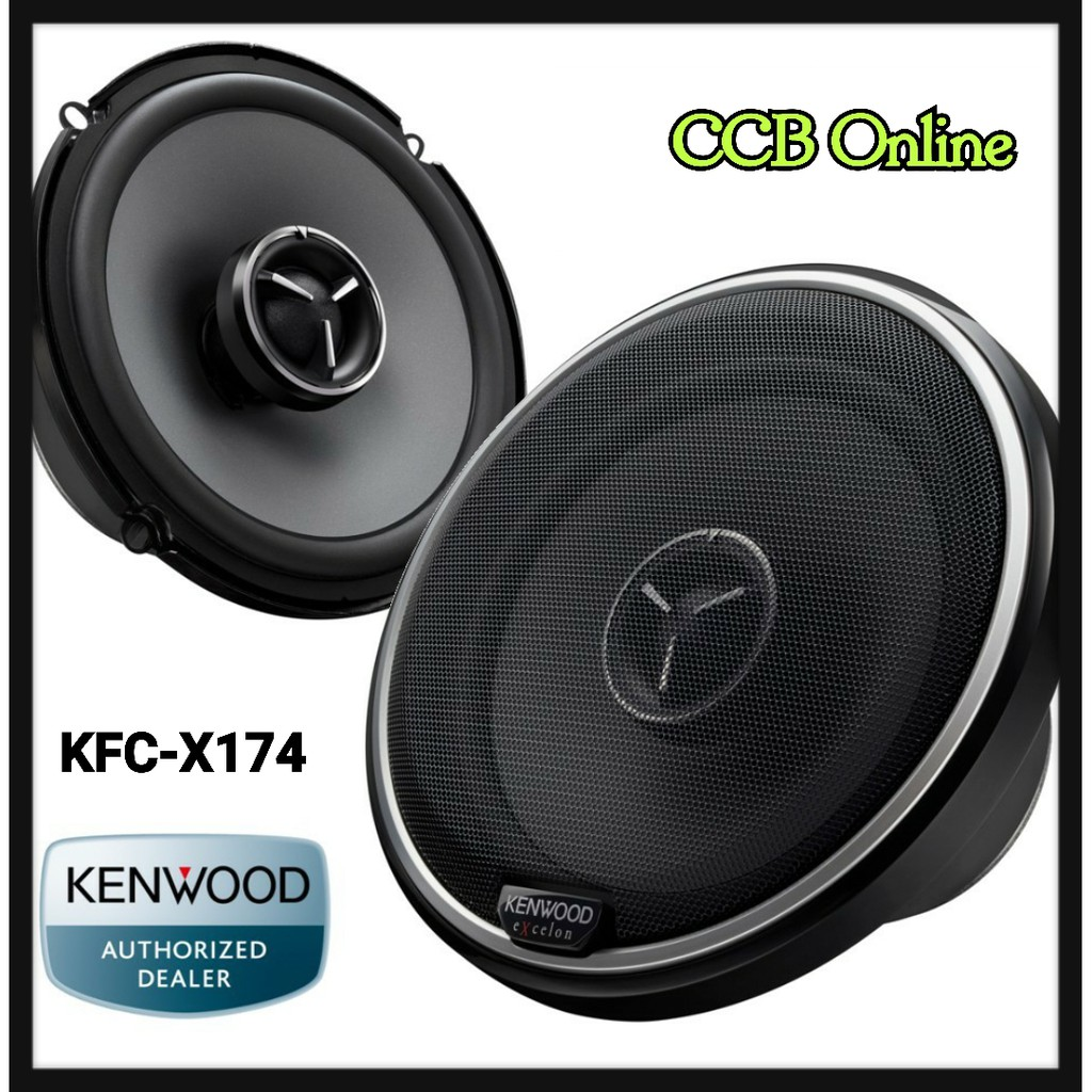 KENWOOD KFC-X174 6 5 INCH X SERIES 2 WAY SPEAKERS 80W RMS