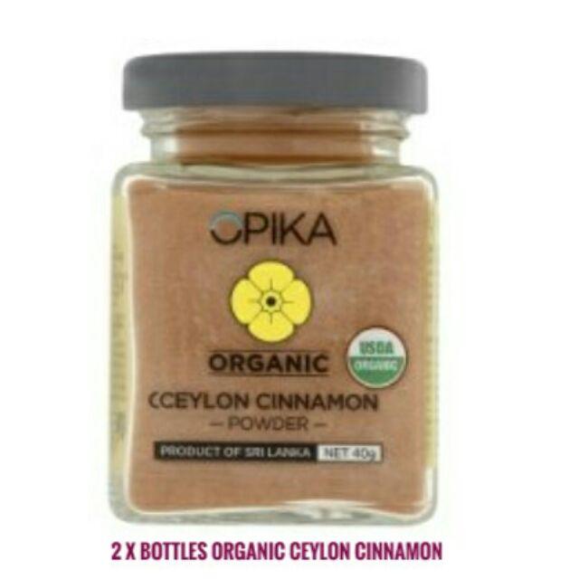 2 x 40g Opika Organic Ceylon Cinnamon Powder