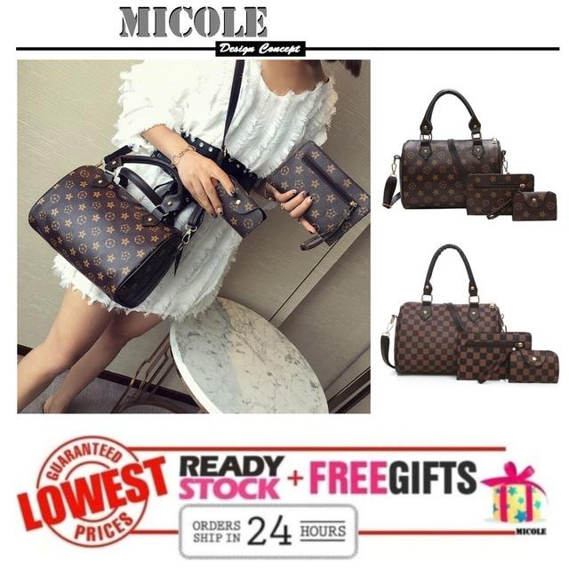 07d4d442389f MICOLE 3 IN 1 Handbag Set Sling Bag Purse BS3027