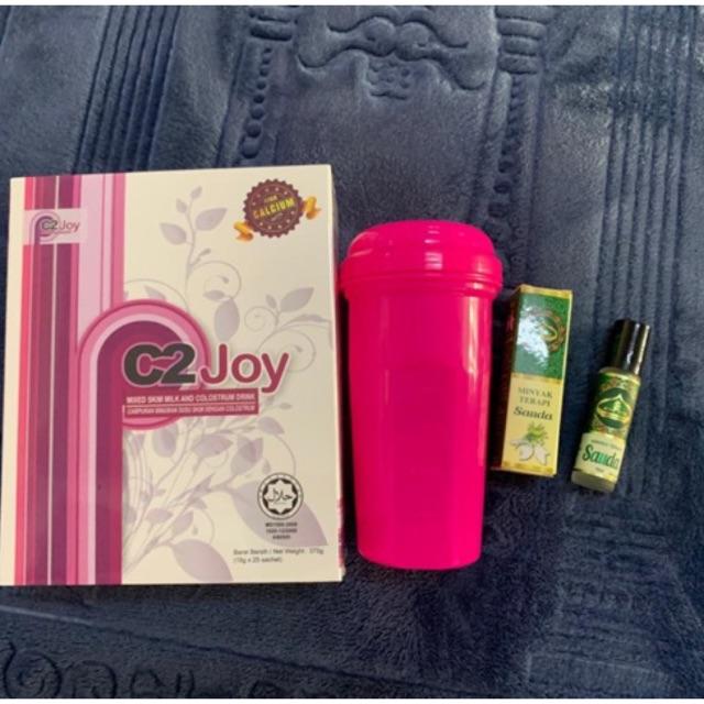 [ORIGINAL HQ] C2Joy Susu Colostrum (FREE Shaker & Terapi Roll)