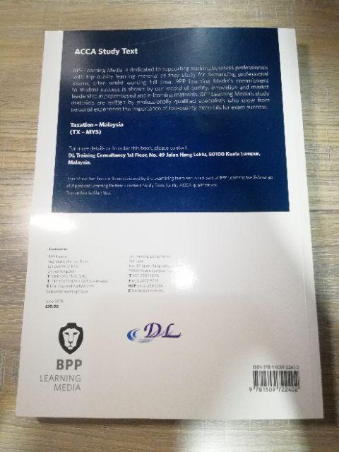 BPP ACCA TAXATION - MALAYSIA (F6) : STUDY TEXT | Shopee Malaysia