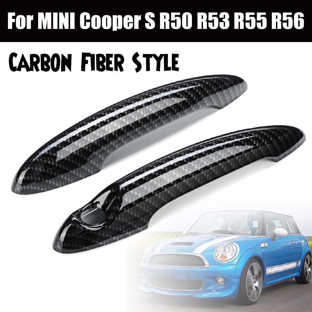4pcs Real Carbon Fiber Door Pin of Door Panel fits MINI COOPER John Cooper Works