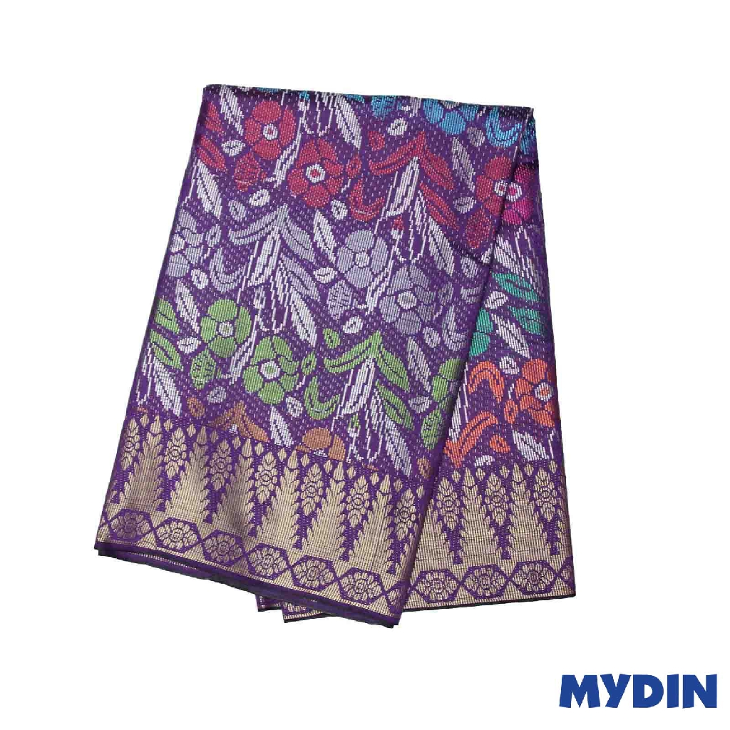"Men Sampin - (C) Multicolor On Purple with Tulip Designs (2.25m X 36"") 0819SRLHDD04 #Raya"