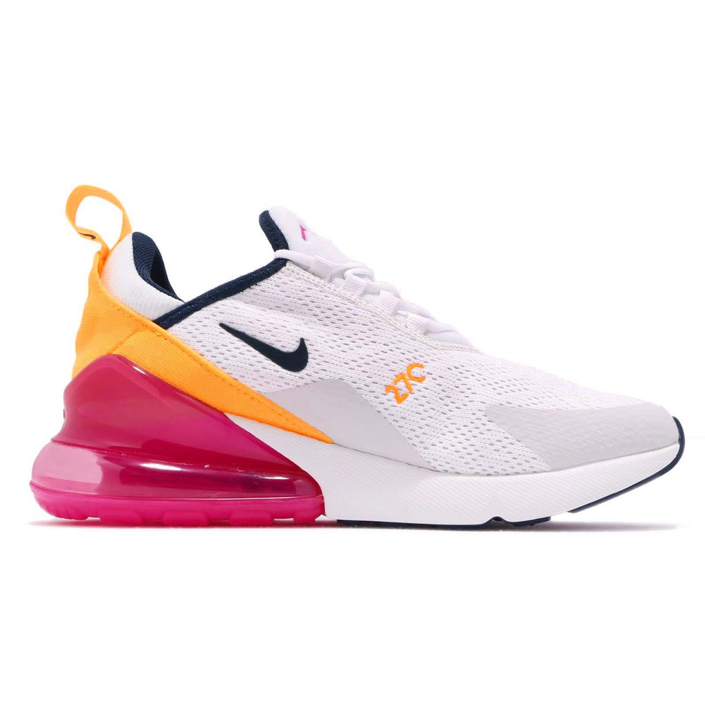 white pink and yellow air max 270