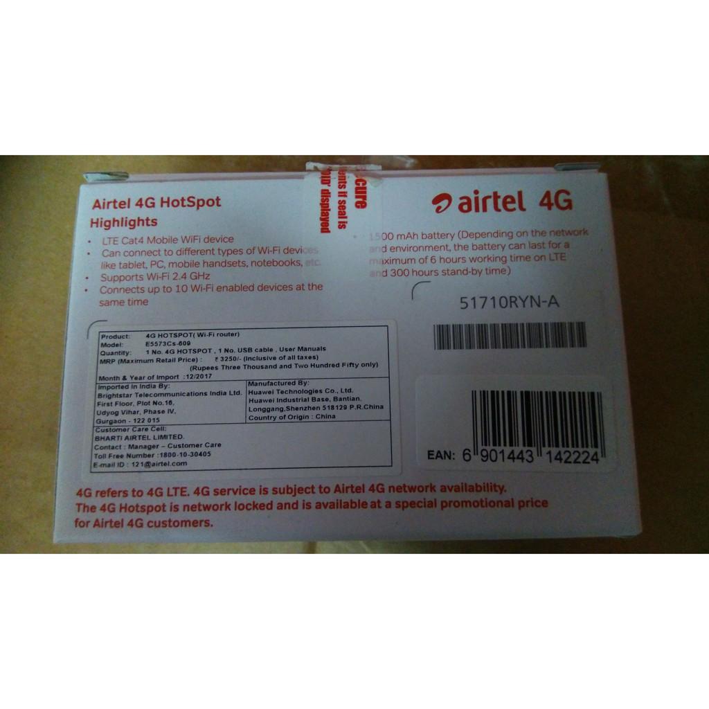 Huawei Airtel E5573cs-609 4G mifi router modem