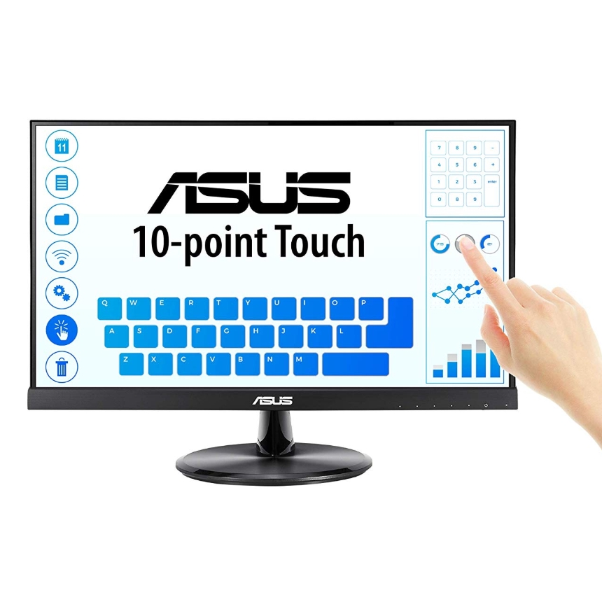ASUS VT229H 21.5 Monitor 1080P IPS 10-Point Touch Eye Care with HDMI VGA